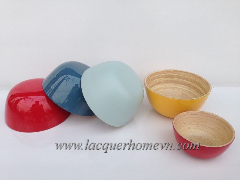 Ha Thai Lacquer bamboo cereal bowls
