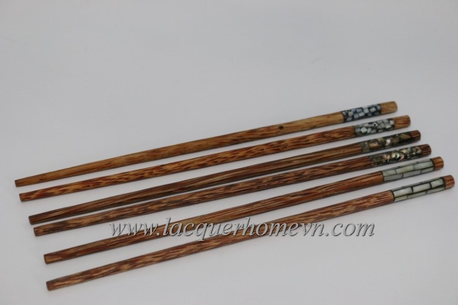 Mother of pearl inlay wood chopsticks