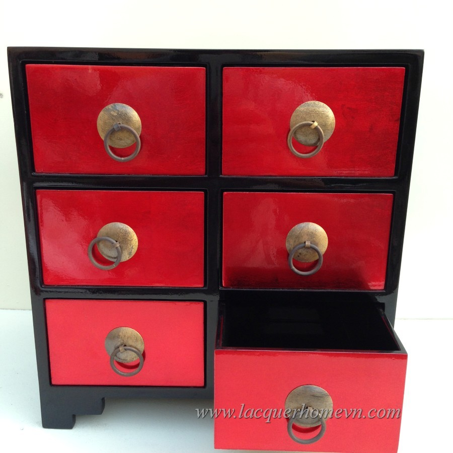 MDF lacquer jewelry drawers, made in Vietnam